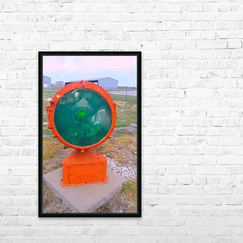 Airport Light HD Sublimation Metal print with Decorating Float Frame (BOX)