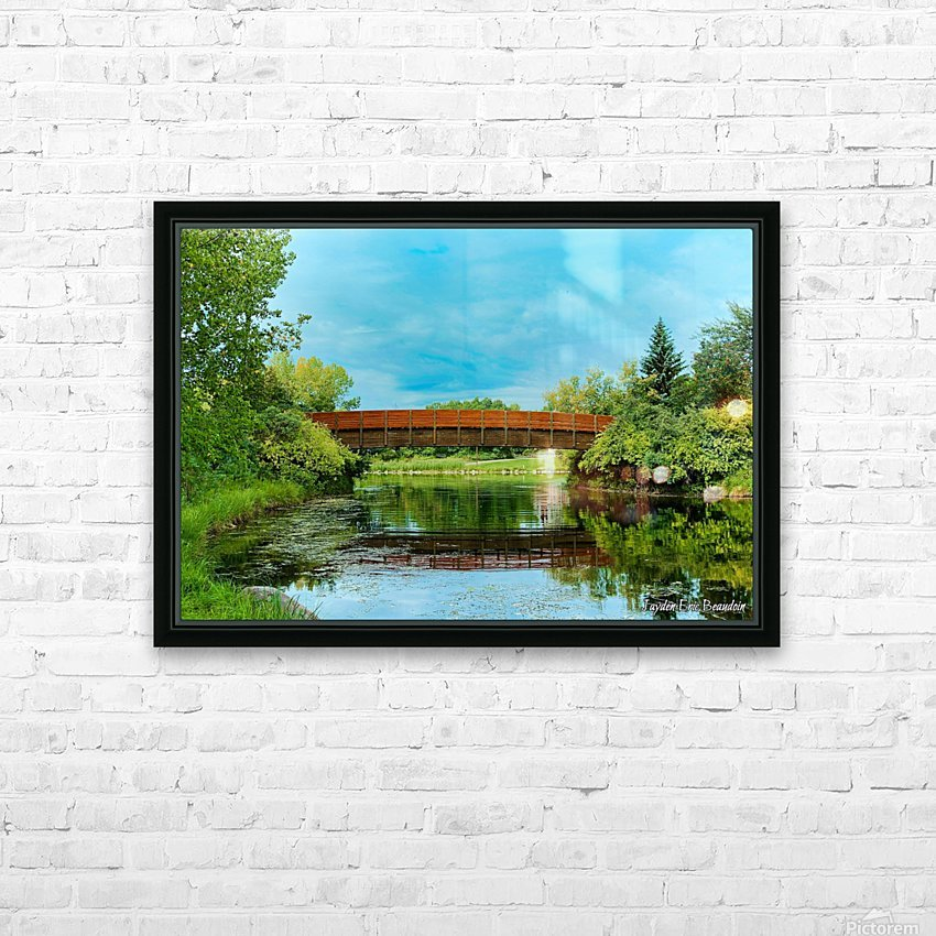 The Lonley Bridge HD Sublimation Metal print with Decorating Float Frame (BOX)