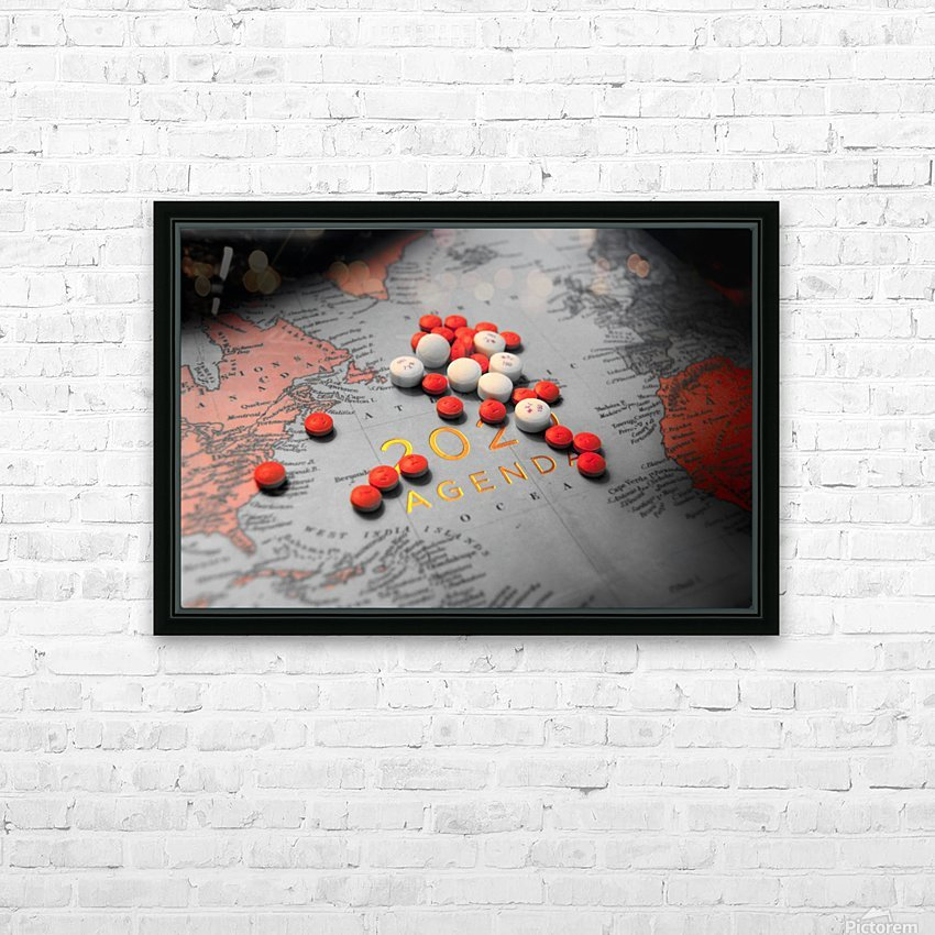 2020 HD Sublimation Metal print with Decorating Float Frame (BOX)
