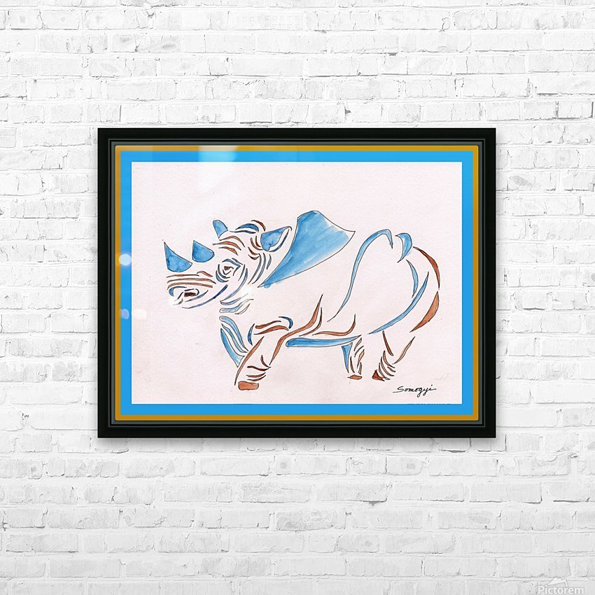 Do Rhinos Come in Blue HD Sublimation Metal print with Decorating Float Frame (BOX)