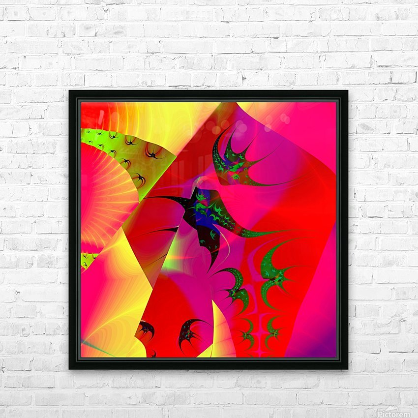 Sun_Flies HD Sublimation Metal print with Decorating Float Frame (BOX)