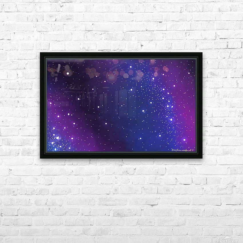 galaxy series - 2 HD Sublimation Metal print with Decorating Float Frame (BOX)