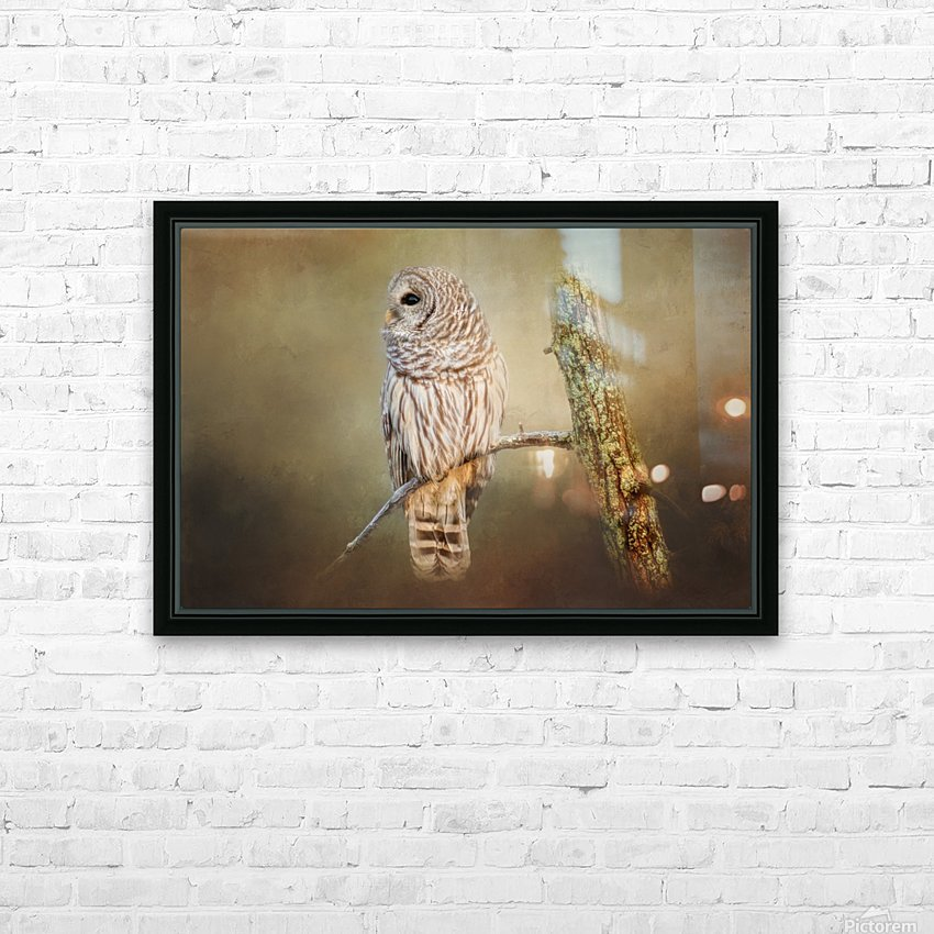 Whos There HD Sublimation Metal print with Decorating Float Frame (BOX)