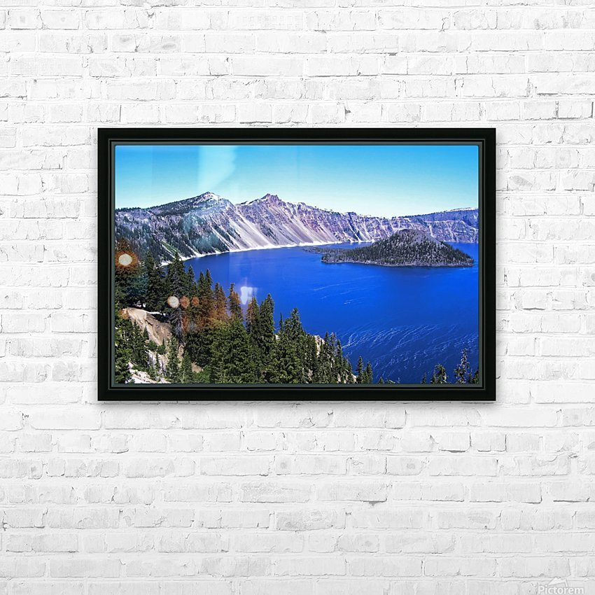 Crater Lake Oregon HD Sublimation Metal print with Decorating Float Frame (BOX)