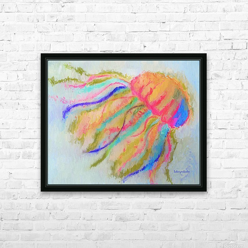 Jellyfish in watercolor HD Sublimation Metal print with Decorating Float Frame (BOX)
