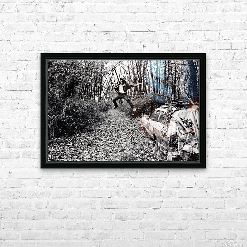 Back Driveway Superhighway HD Sublimation Metal print with Decorating Float Frame (BOX)