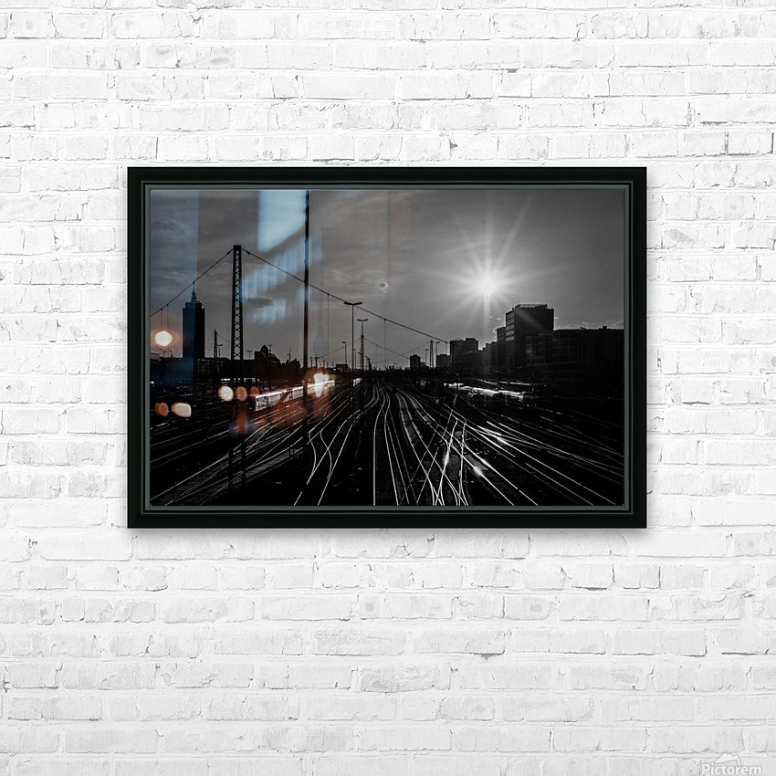 German Rails HD Sublimation Metal print with Decorating Float Frame (BOX)