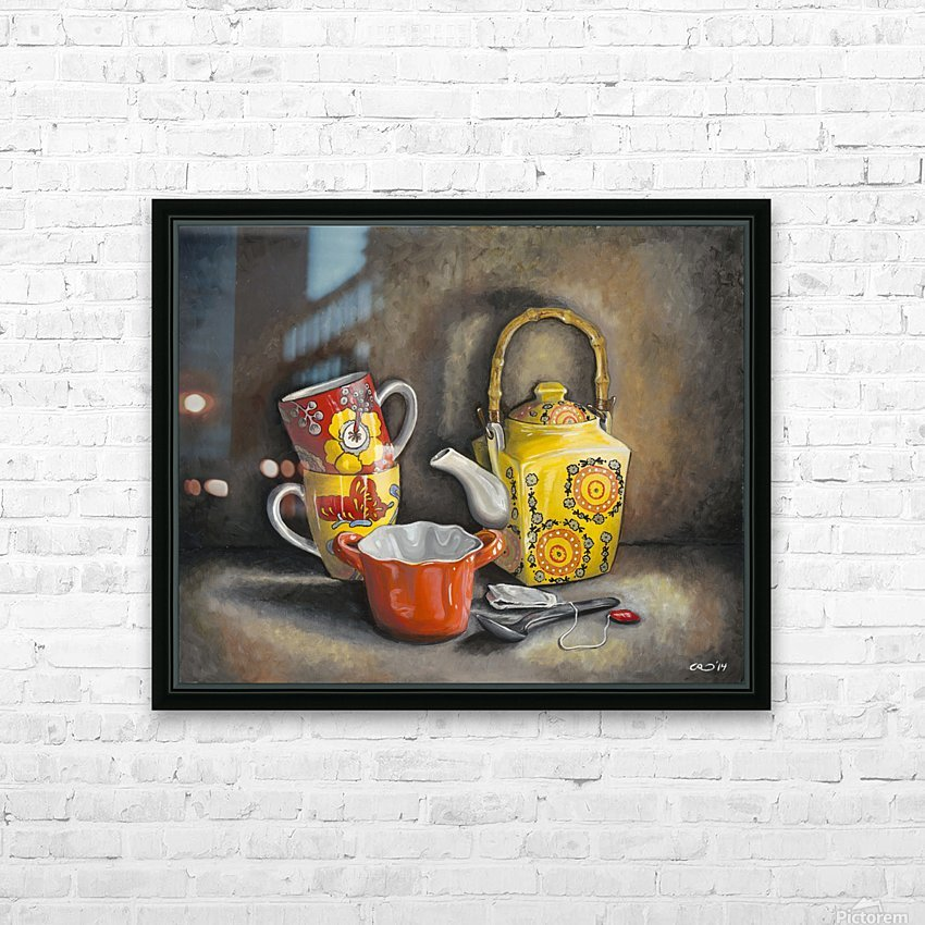 Tea Time HD Sublimation Metal print with Decorating Float Frame (BOX)