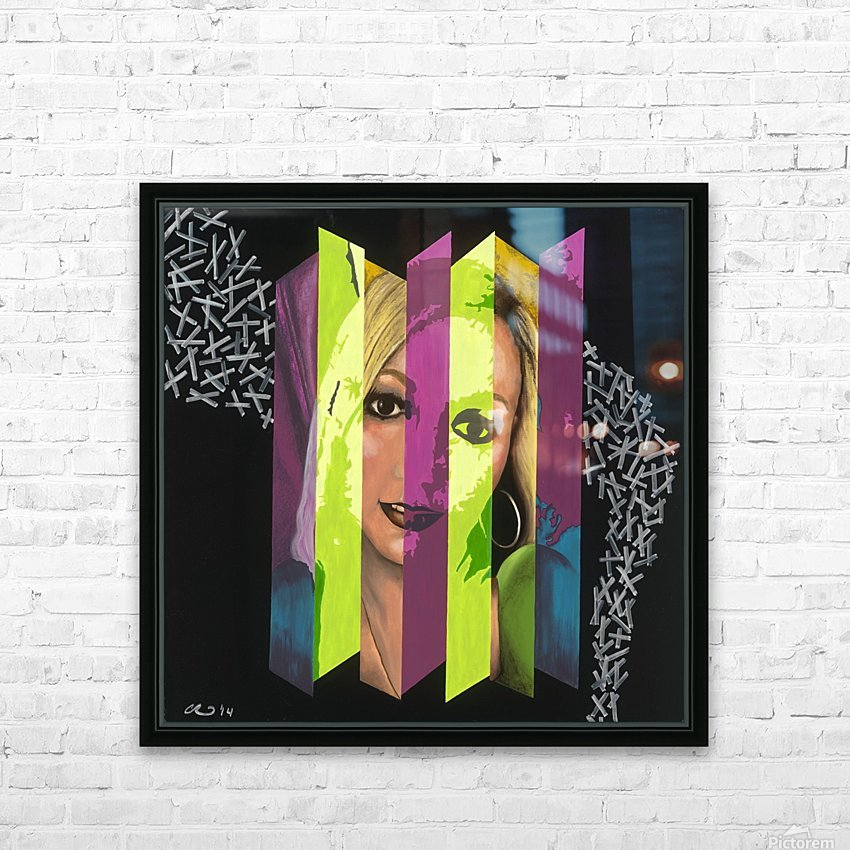 Split Personality HD Sublimation Metal print with Decorating Float Frame (BOX)