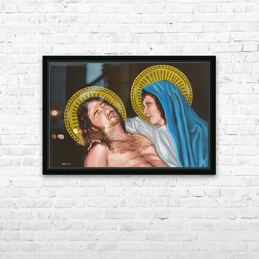 Pieta HD Sublimation Metal print with Decorating Float Frame (BOX)