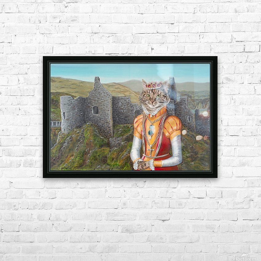 Princess Strudel of Dunluce HD Sublimation Metal print with Decorating Float Frame (BOX)