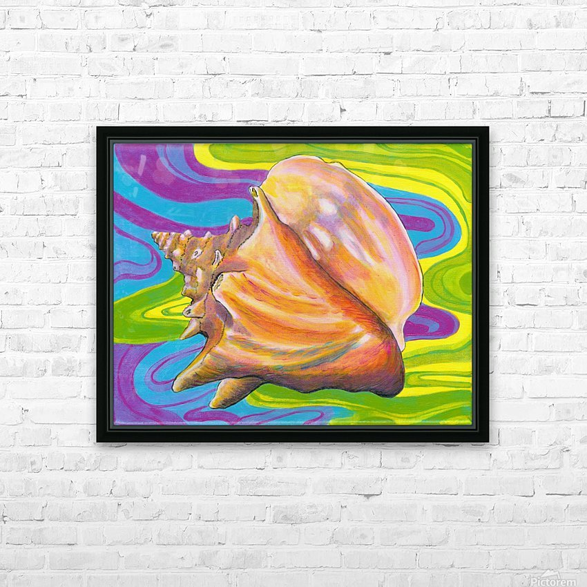 Seashell HD Sublimation Metal print with Decorating Float Frame (BOX)