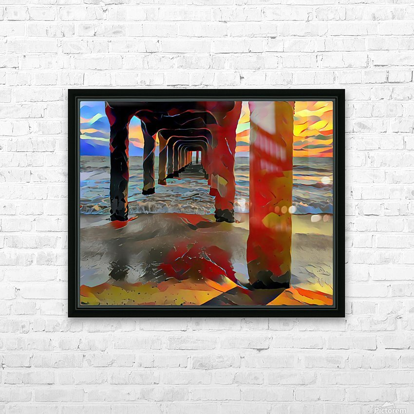 Hermosa beach pier HD Sublimation Metal print with Decorating Float Frame (BOX)