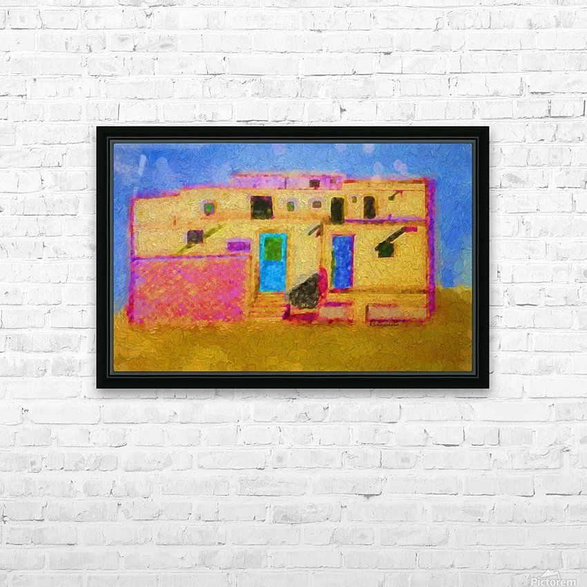 Adobe House New Mexico HD Sublimation Metal print with Decorating Float Frame (BOX)