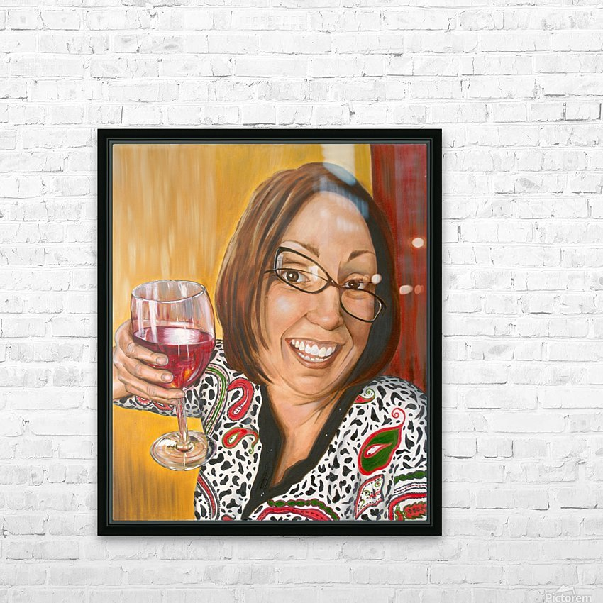 Auntie Bananas HD Sublimation Metal print with Decorating Float Frame (BOX)
