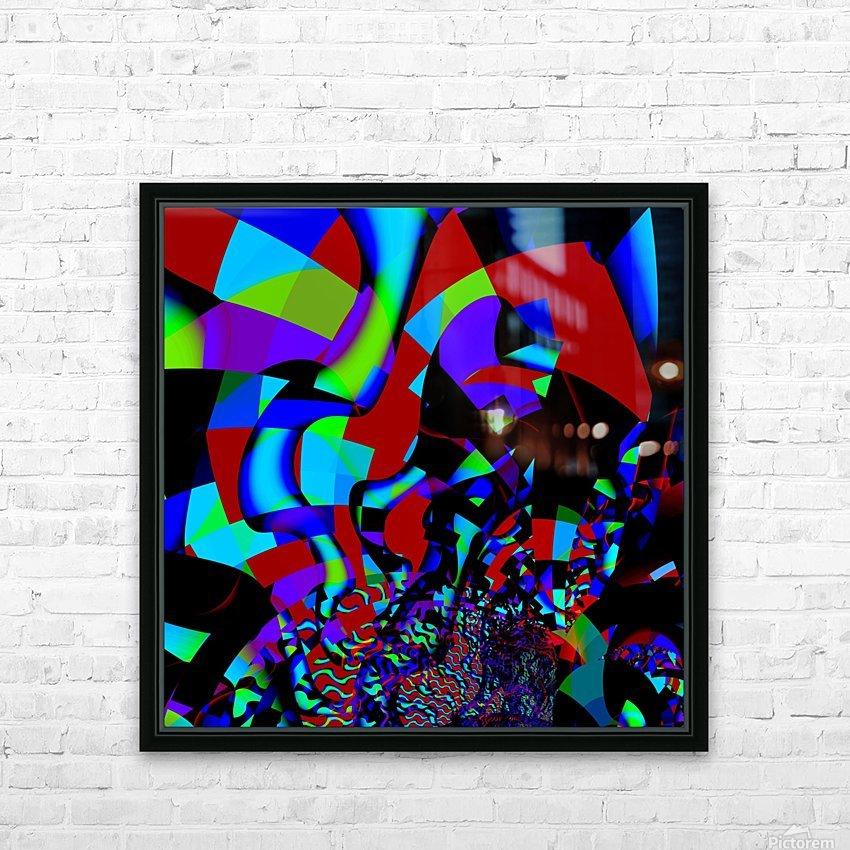 Jazz_Fusion_Series_1 HD Sublimation Metal print with Decorating Float Frame (BOX)