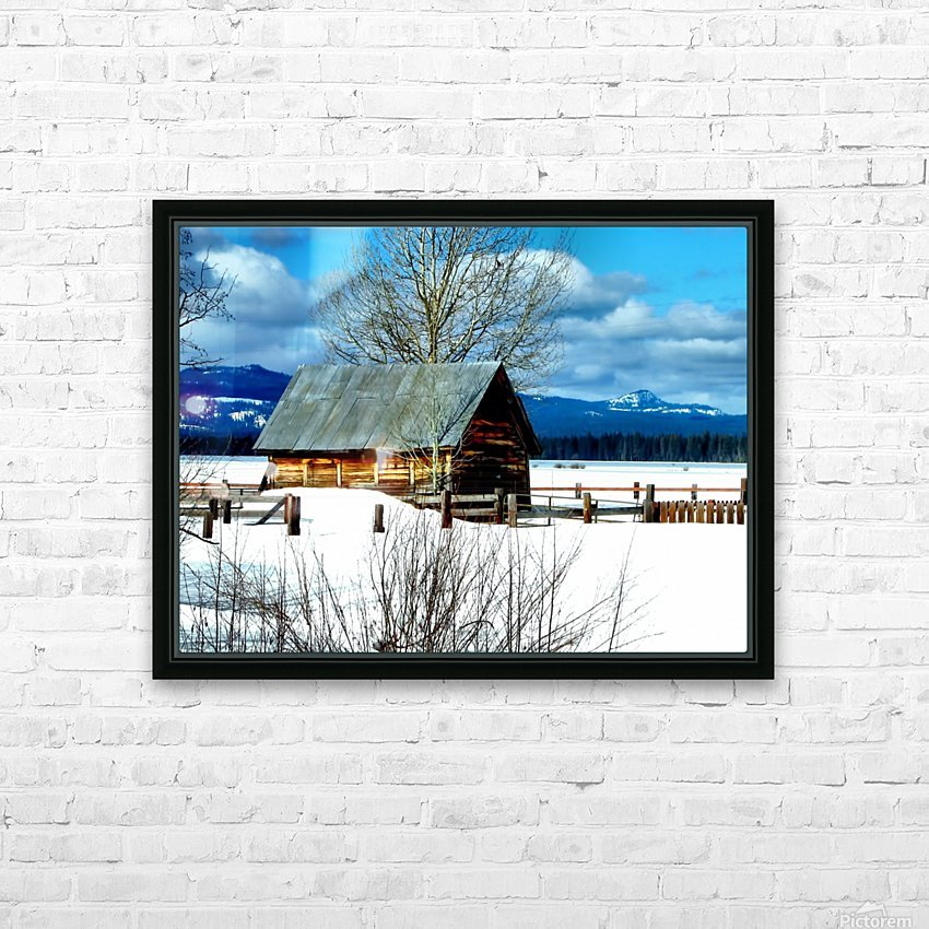 Winter Homestead  HD Sublimation Metal print with Decorating Float Frame (BOX)