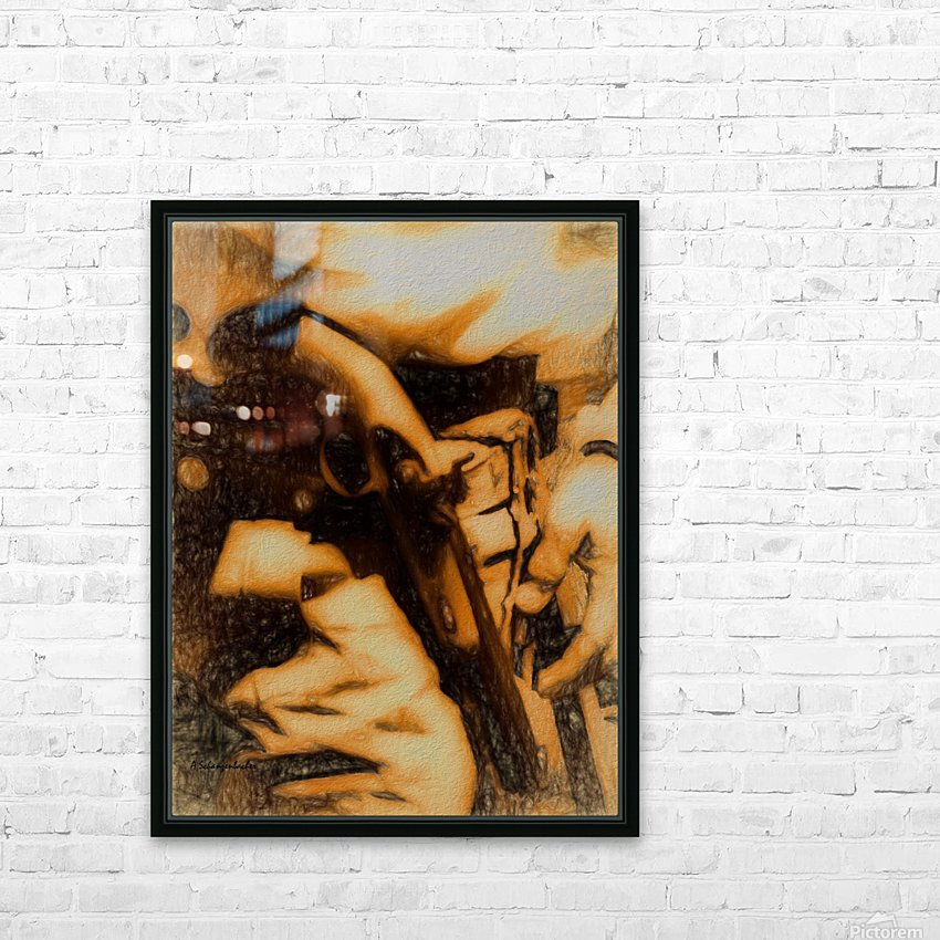 U.S. Civil War Gun and Holster  HD Sublimation Metal print with Decorating Float Frame (BOX)