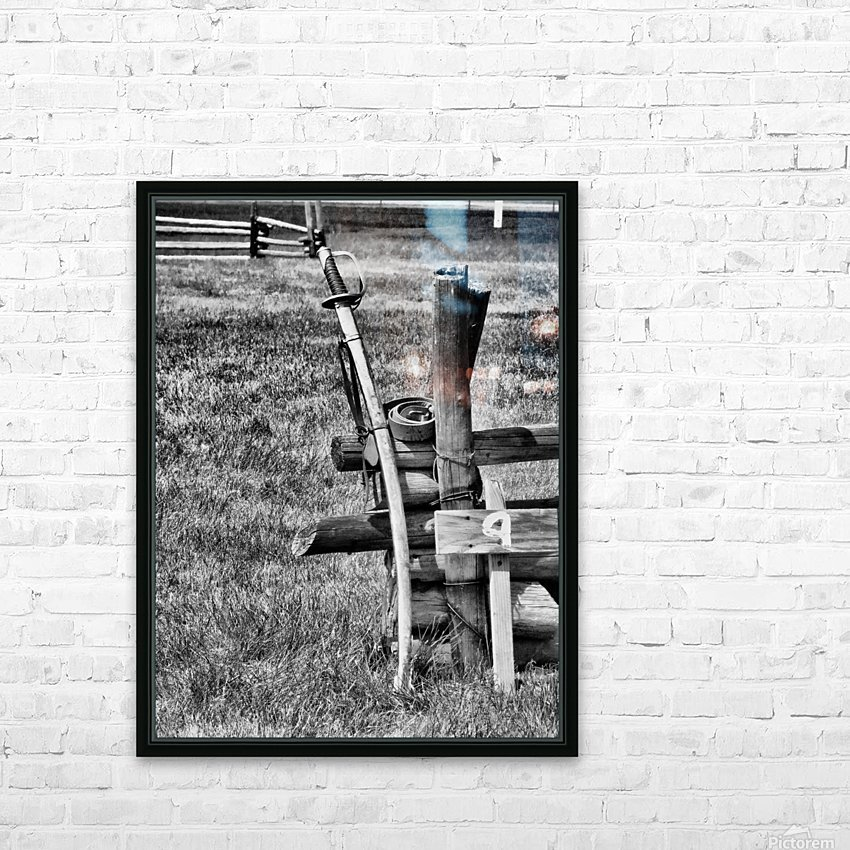 Sword HD Sublimation Metal print with Decorating Float Frame (BOX)