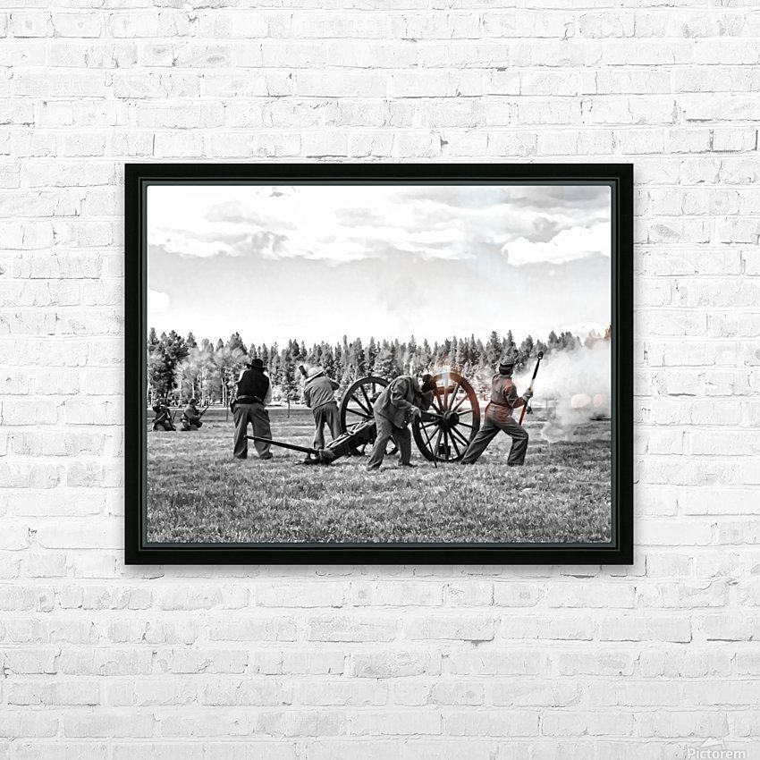 U. S. Civil War Re-enactment HD Sublimation Metal print with Decorating Float Frame (BOX)
