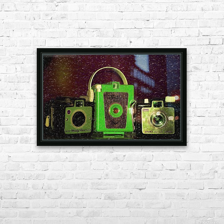 Antique Camera HD Sublimation Metal print with Decorating Float Frame (BOX)