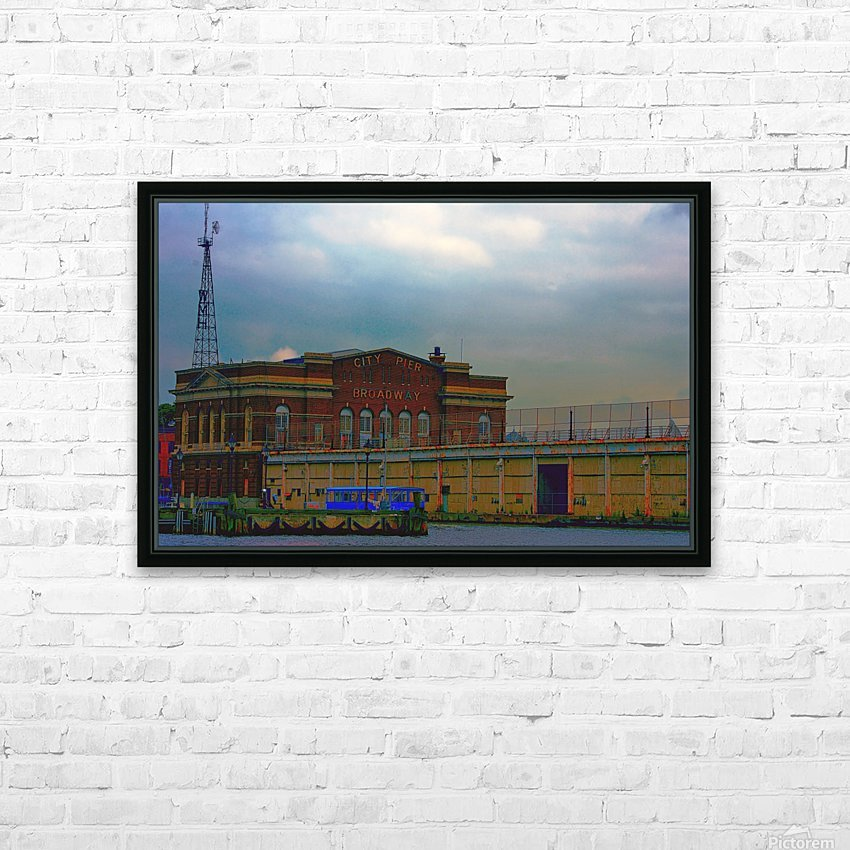 Port of Baltimore MD HD Sublimation Metal print with Decorating Float Frame (BOX)
