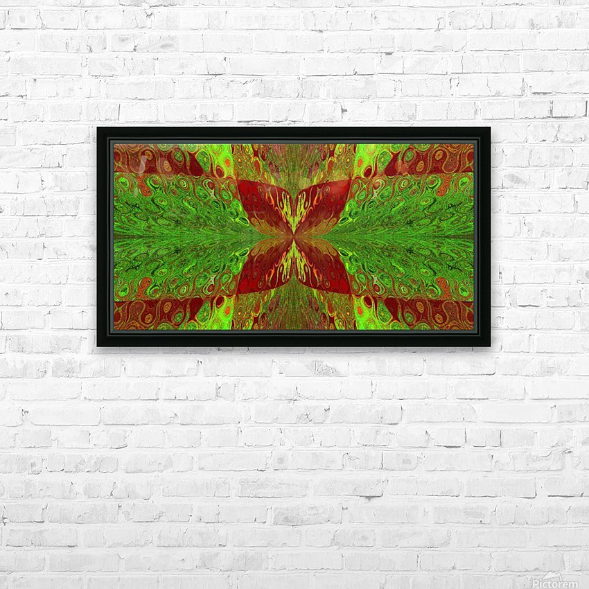 Butterfly in Crystal 5 HD Sublimation Metal print with Decorating Float Frame (BOX)