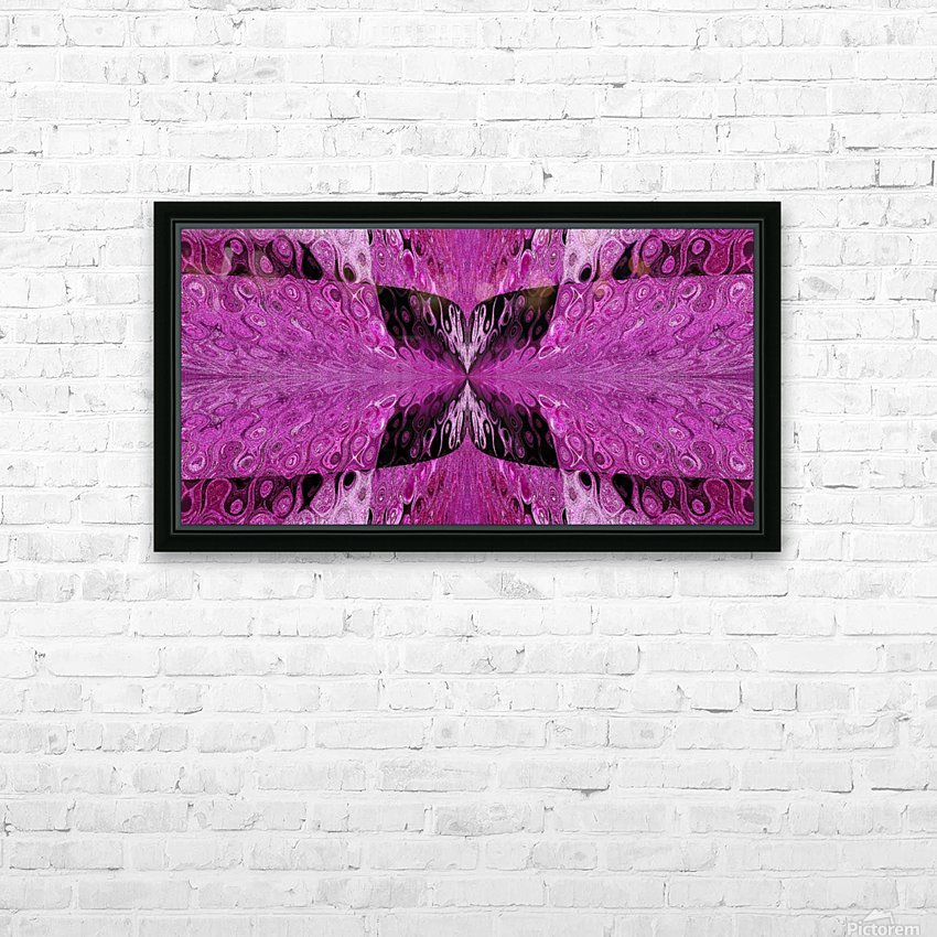 Butterfly in Crystal 9 HD Sublimation Metal print with Decorating Float Frame (BOX)