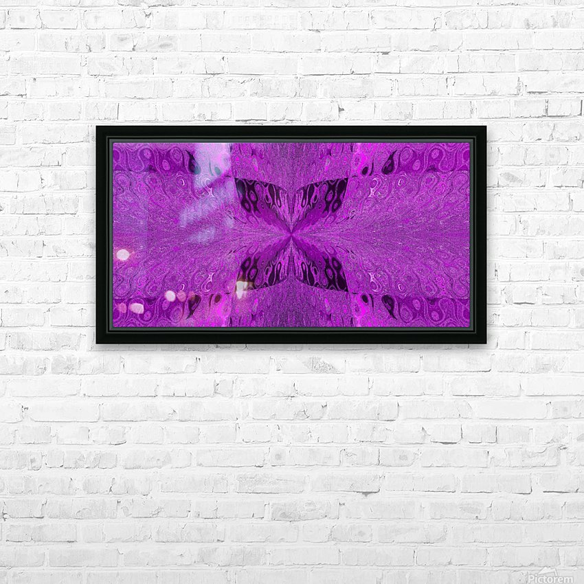 Butterfly in Crystal 19 HD Sublimation Metal print with Decorating Float Frame (BOX)