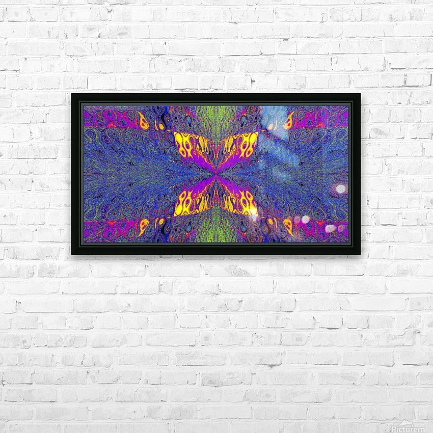 Butterfly in Crystal 23 HD Sublimation Metal print with Decorating Float Frame (BOX)