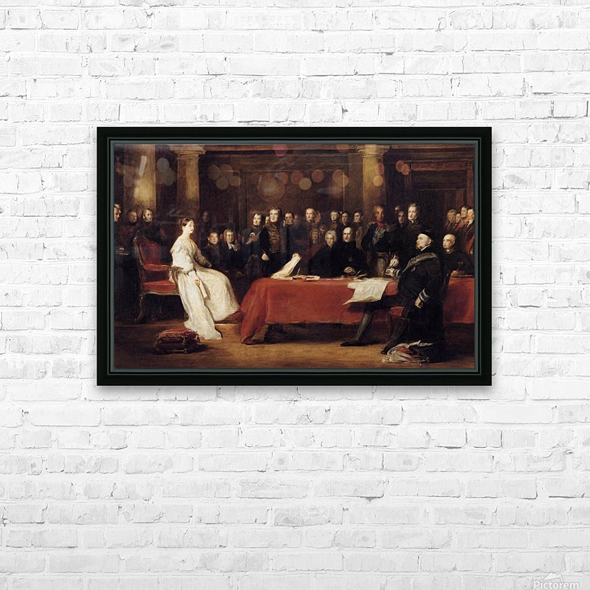 The First Council of Queen Victoria HD Sublimation Metal print with Decorating Float Frame (BOX)
