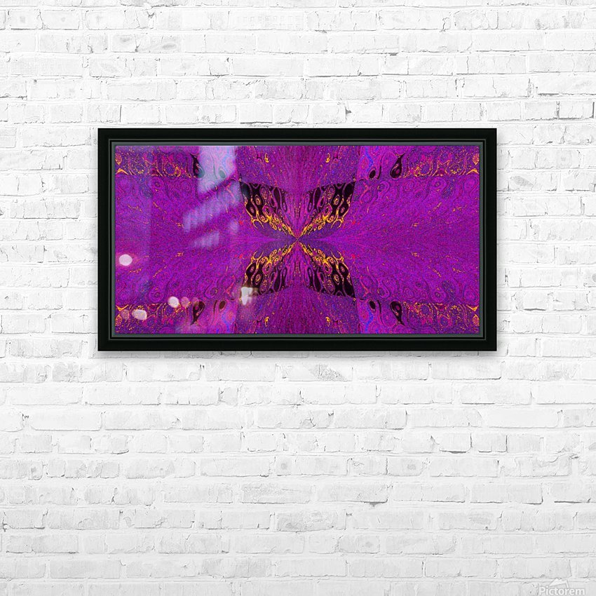 Butterfly in Crystal 37 HD Sublimation Metal print with Decorating Float Frame (BOX)
