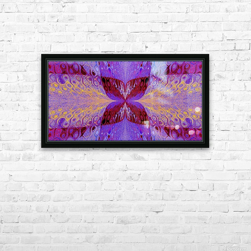 Butterfly in Crystal 46 HD Sublimation Metal print with Decorating Float Frame (BOX)