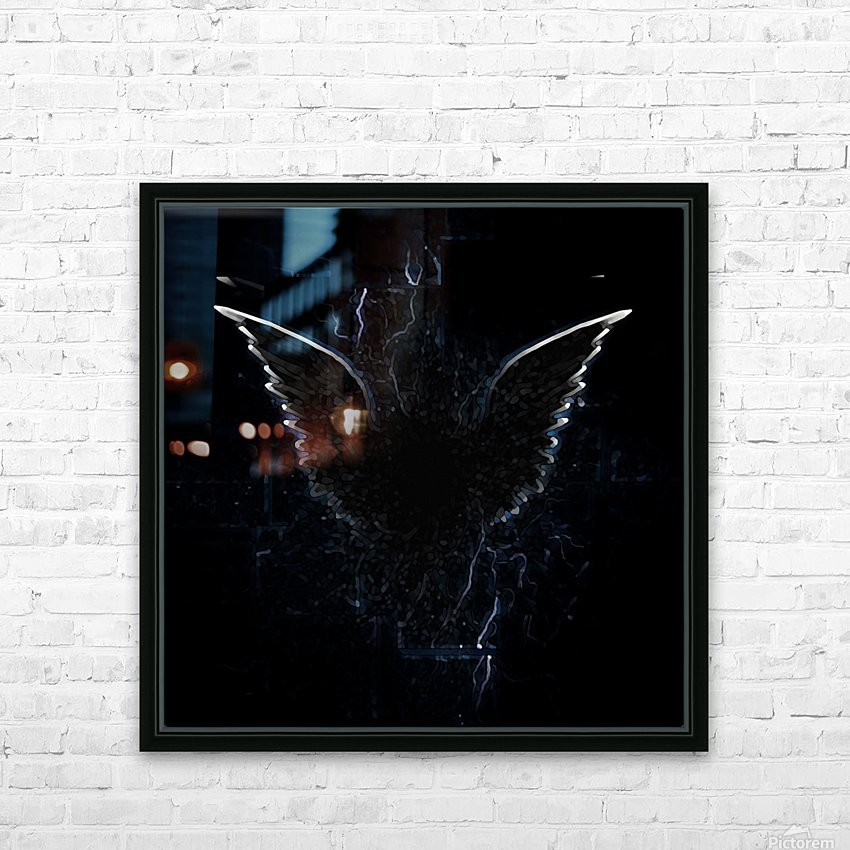 Outline of Winged Creature HD Sublimation Metal print with Decorating Float Frame (BOX)