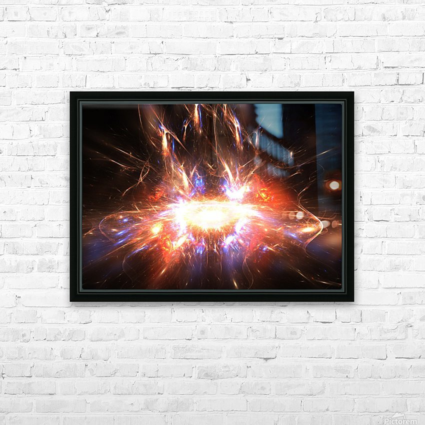 Angry galaxy e HD Sublimation Metal print with Decorating Float Frame (BOX)
