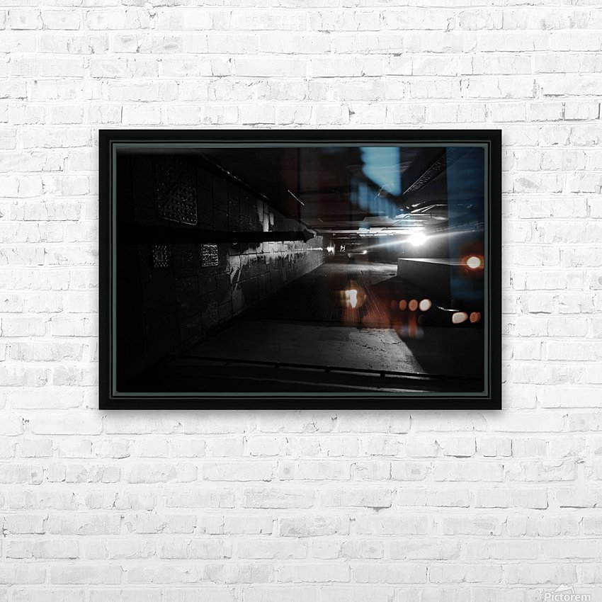 Dark alley HD Sublimation Metal print with Decorating Float Frame (BOX)