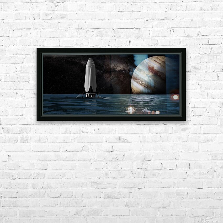 Interplanetary Transport with Jupiter 092716 HD Sublimation Metal print with Decorating Float Frame (BOX)