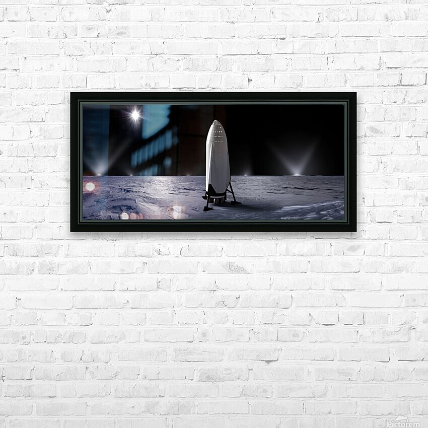 Interplanetary Transport System SpaceX 092716 HD Sublimation Metal print with Decorating Float Frame (BOX)