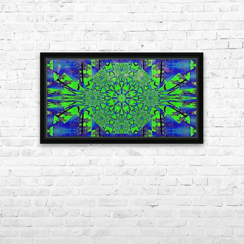 Dahlia in Green HD Sublimation Metal print with Decorating Float Frame (BOX)