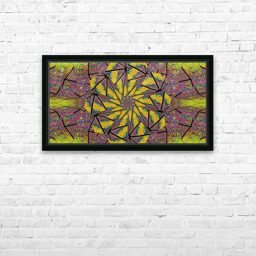 Green Dahlia 3 HD Sublimation Metal print with Decorating Float Frame (BOX)