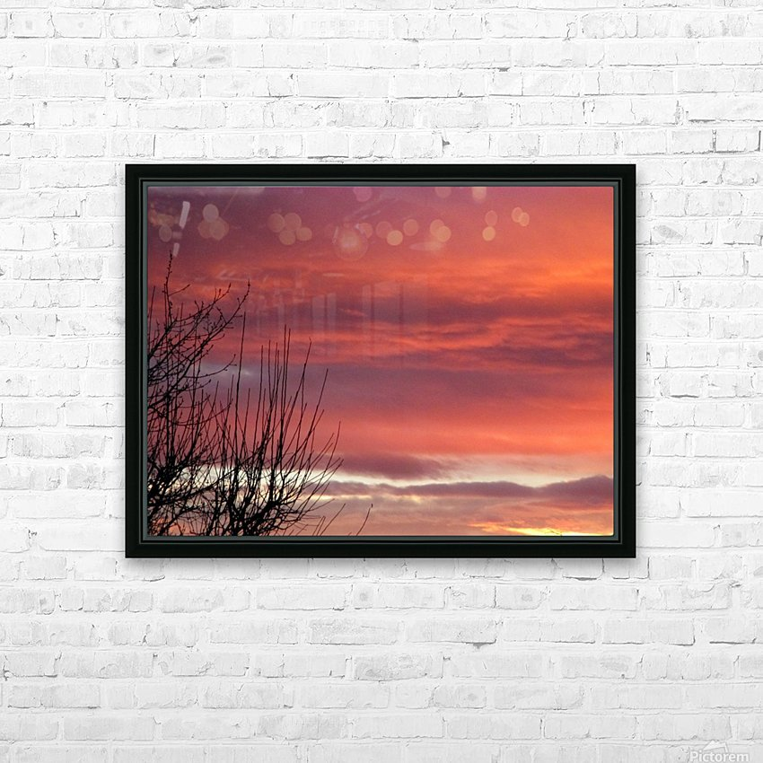 Winters sky poetry HD Sublimation Metal print with Decorating Float Frame (BOX)