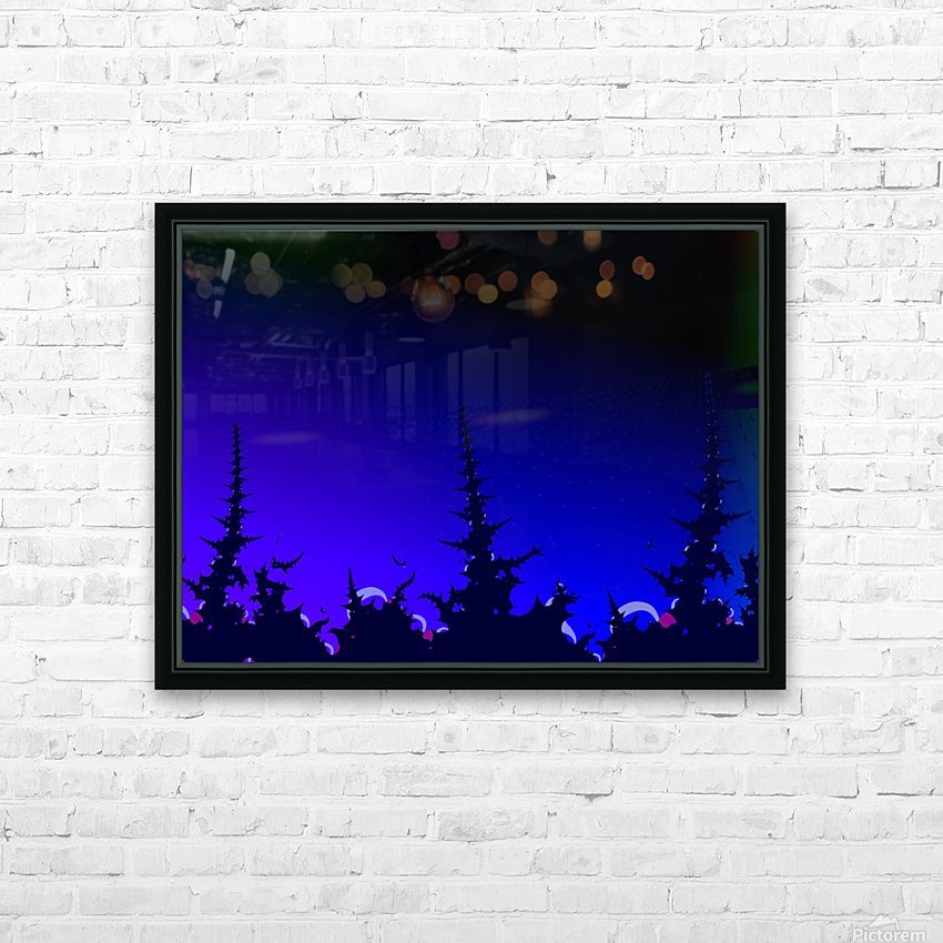 Noche_Azul HD Sublimation Metal print with Decorating Float Frame (BOX)