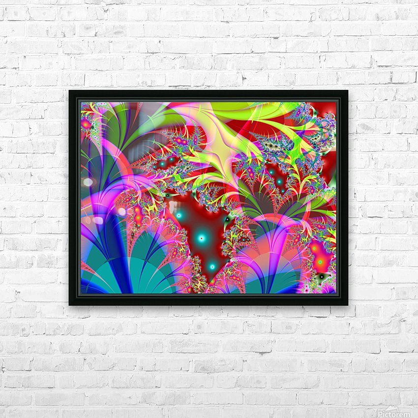Tangerine_Island_3 HD Sublimation Metal print with Decorating Float Frame (BOX)