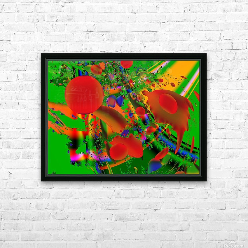 Tangerine_Island_7 HD Sublimation Metal print with Decorating Float Frame (BOX)