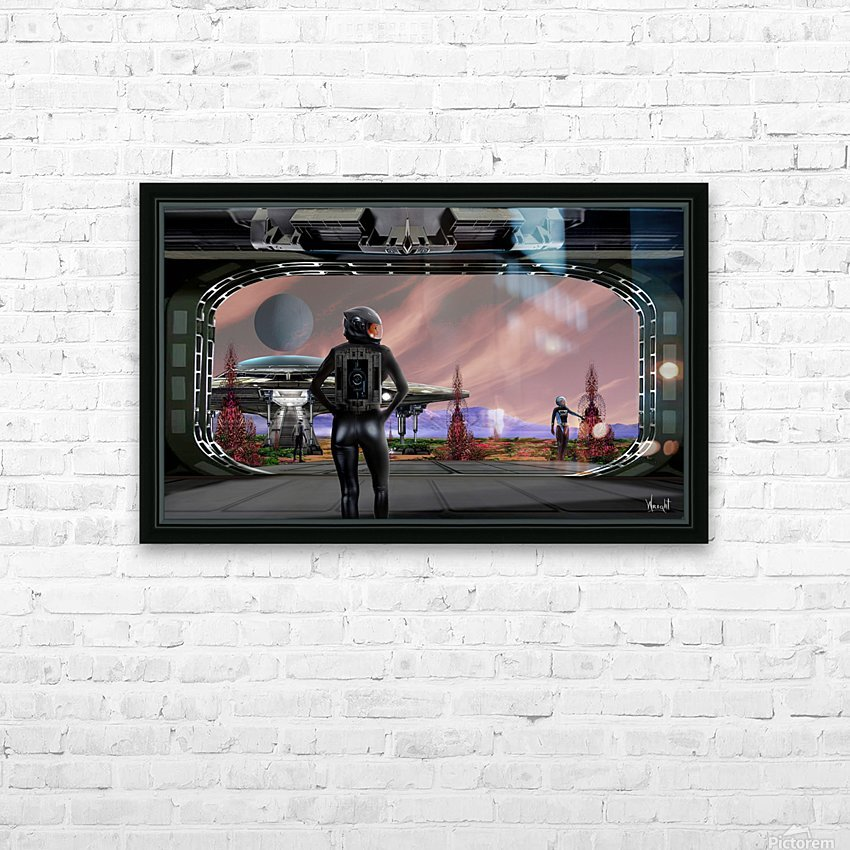 Proxima B HD Sublimation Metal print with Decorating Float Frame (BOX)