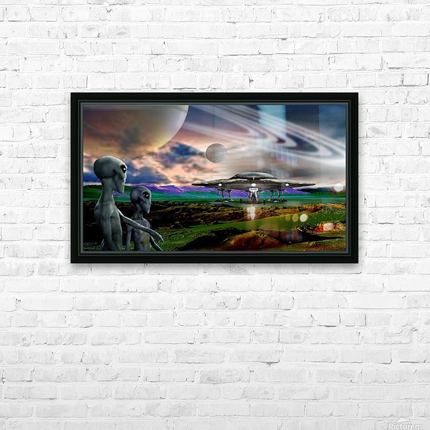 Explorers from Earth HD Sublimation Metal print with Decorating Float Frame (BOX)