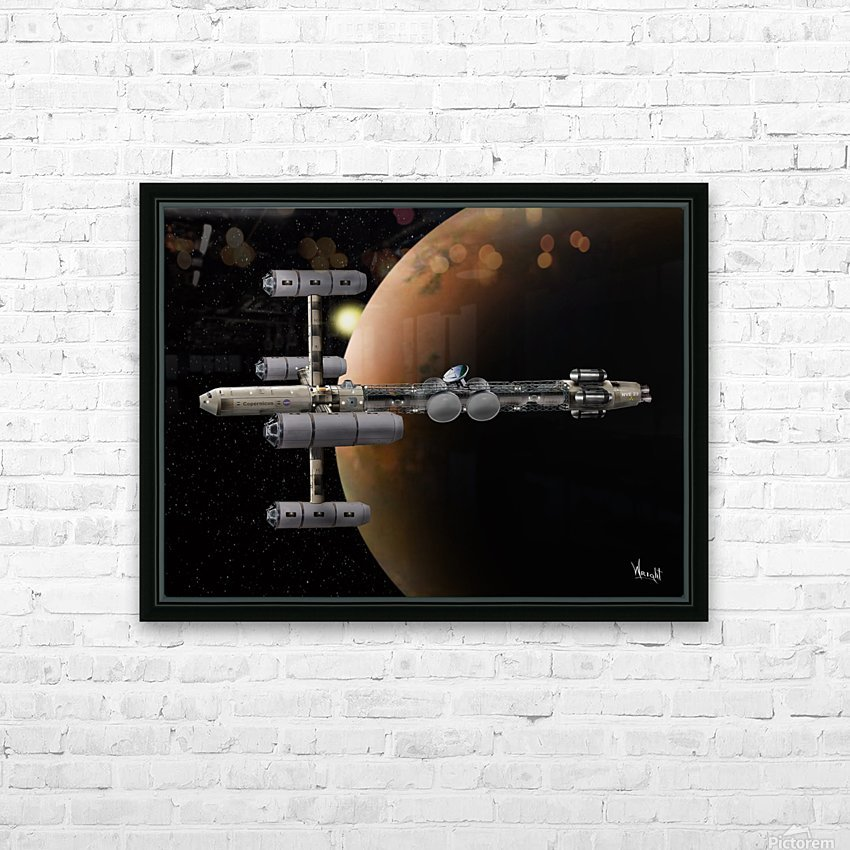 Copernicus in Mars Orbit HD Sublimation Metal print with Decorating Float Frame (BOX)