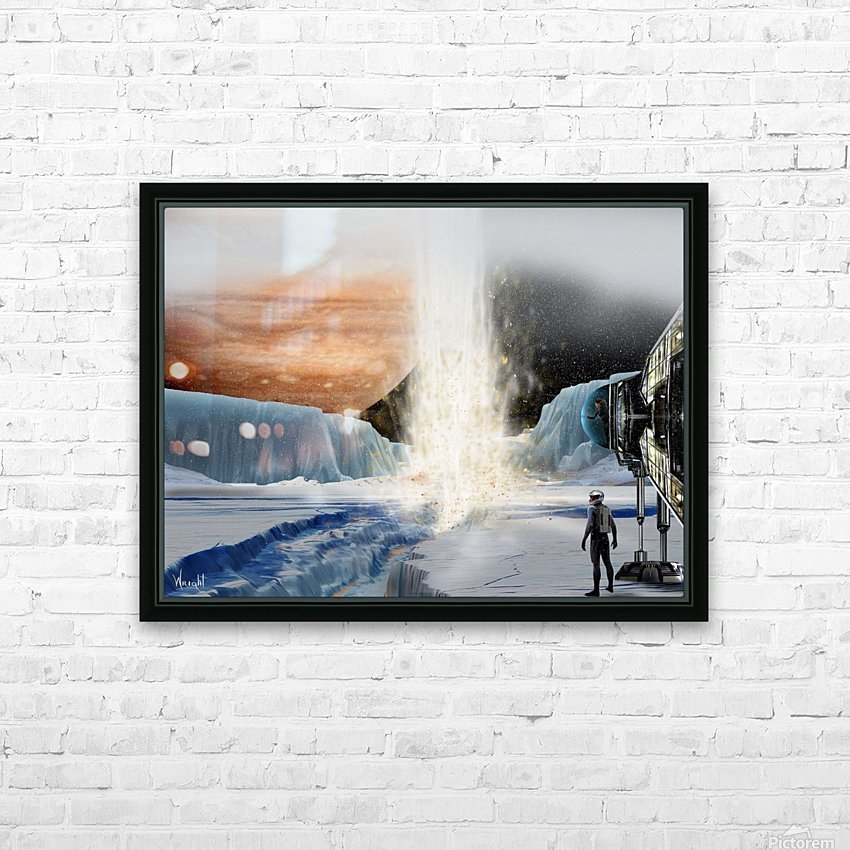 Geyser on Europa HD Sublimation Metal print with Decorating Float Frame (BOX)