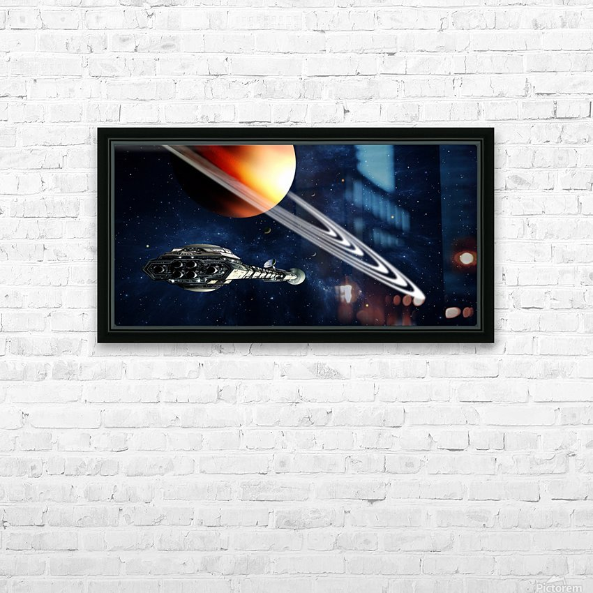 Saturn Fly-By HD Sublimation Metal print with Decorating Float Frame (BOX)