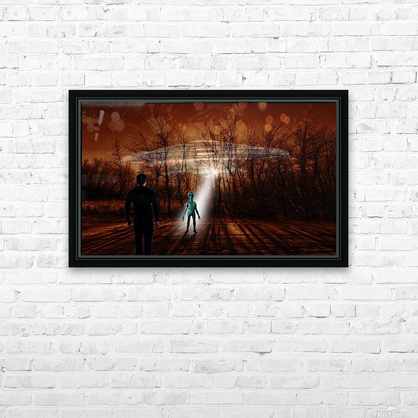 Dark Encounter HD Sublimation Metal print with Decorating Float Frame (BOX)